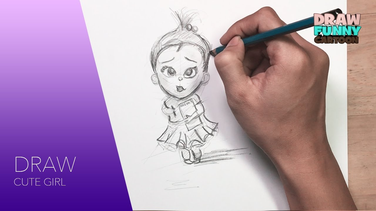 How To Draw Cute Girl From Boss Baby Movie Fail Version