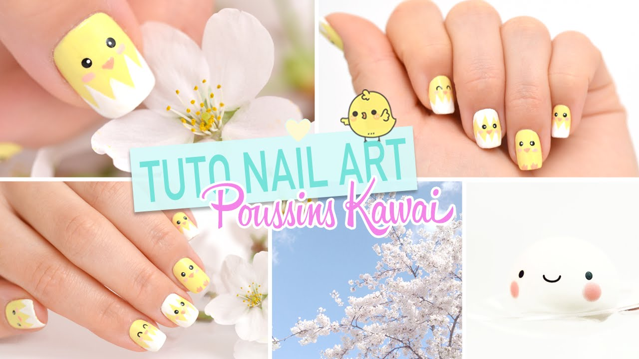 Nail art ♡ Poussins Kawaii - YouTube