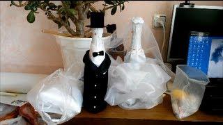 """Как оформить свадебное шампанское """"Жених и Невеста"""" - рассказывает Аюна"""