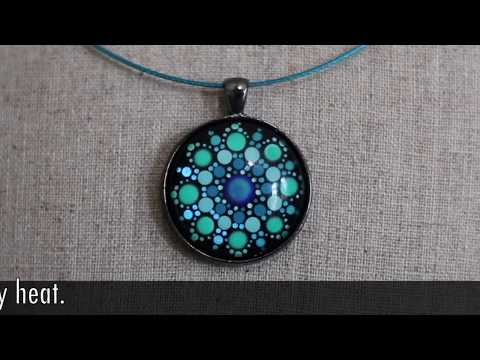 REVISED: Turquoise Color Shift Glow in the Dark Mood Mandala™ Pendant Wearable Art