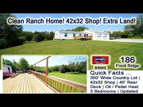 SOLD! Homes For Sale In Maine   186 Front Ridge RD Houlton ME MOOERS REALTY #8866