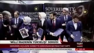 -TGRT HABER- Sümeyye Erdoğan Bayraktar ABD'de Sergi Açılışında konuştu