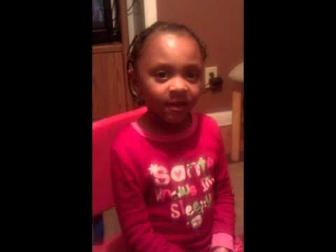 Alaya singing her original song everyday...