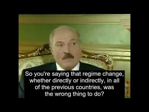 President Aleksandr Lukashenko talking about Bachar Al-Assad