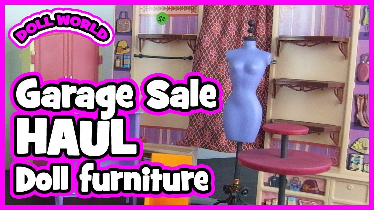 Garage Sale Barbie Doll Furniture Haul Youtube