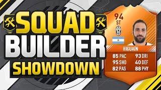 FIFA 17 SQUAD BUILDER SHOWDOWN!!! MAN OF THE MATCH HIGUAIN!!! 94 Rated MOTM Higuain Squad Duel