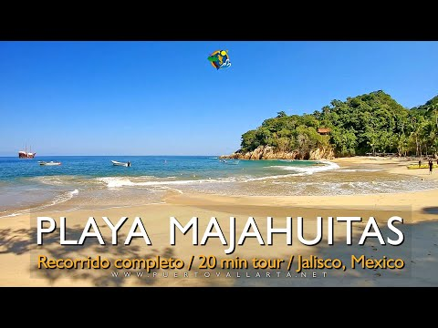Playa Majahuitas toda la playa / Tour of Majahuitas Beach, Cabo Corrientes, Jalisco, Mexico