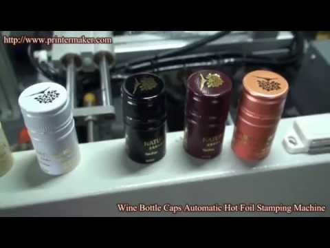 Wine Bottles Caps Automatic Hot Stamping Machine