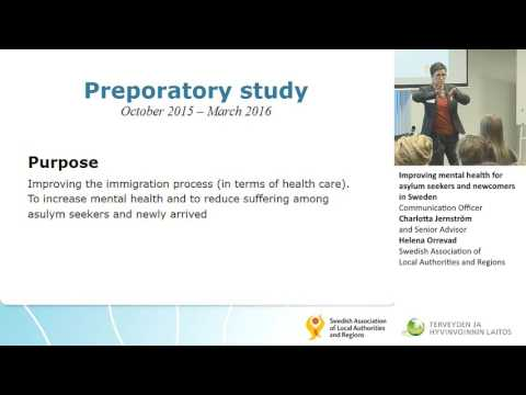 Improving mental health for asylum seekers and newcomers in Sweden
