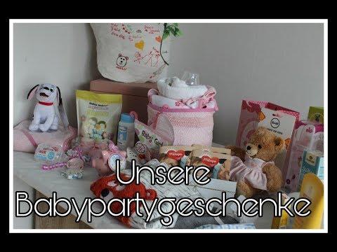 unsere geschenke zur babyparty schwanger mit 18 youtube