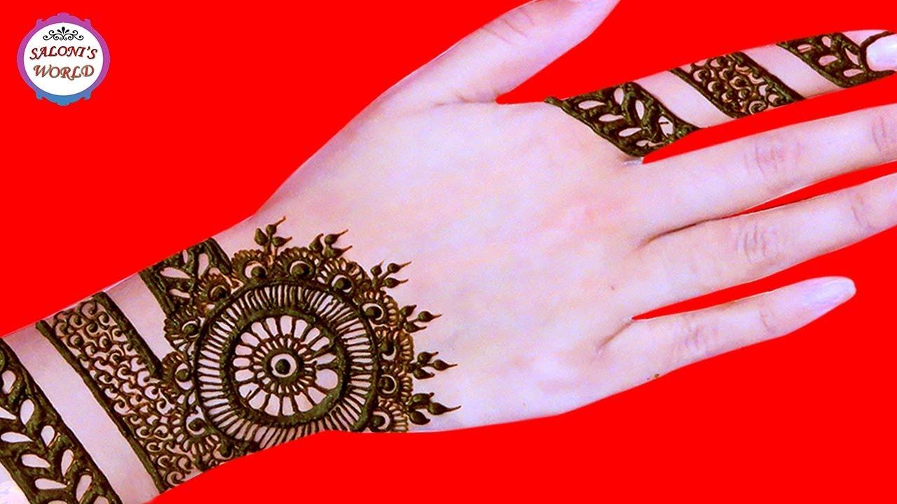How To Apply Easy Simple Mandala Henna Gol Tikki Mehndi Designs By Jyoti Sachdeva
