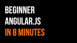Basics of Angular JS in 8 minutes | Controllers + Scope | Code in 5