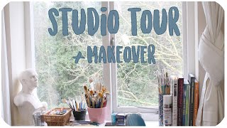 ART STUDIO MAKEOVER + TOUR 2019