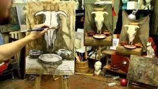 Натюрморт: раскрытие в тоне - Обучение живописи. Масло. Введение, 12 серия