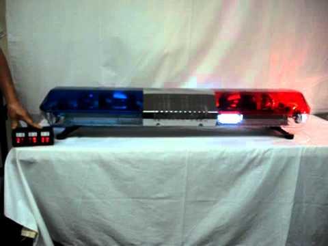 Voltex 48 Quot Police Red Blue Halogen Led Combo Light Bar