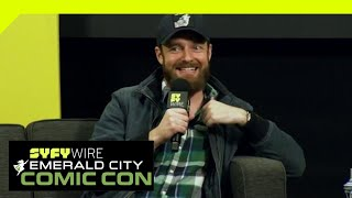 The Walking Dead's Ross Marquand Does Celebrity Impressions | ECCC 2019 | SYFY WIRE