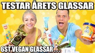 TESTAR ÅRETS GLASSAR  *6ST VEGAN GLASSAR & NYHETER*