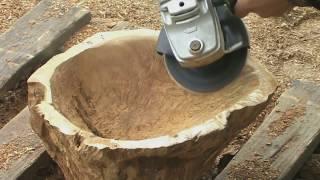 bowl for fruit made of wood and epoxy. Ваза для фруктов из дерева и эпоксидный смолы