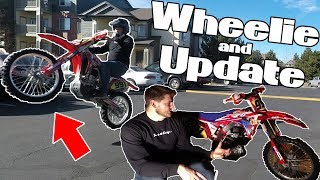 Can't Wait to Ride! Update and Parking Lot Wheelie