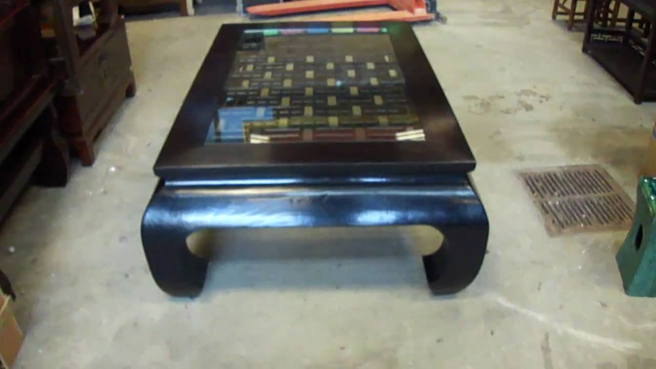 Chinese Ming Style Curve Leg Black Coffee Table YouTube