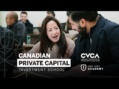 Learn Canadian VC and PE Investment from CVCA and Ivey Business School