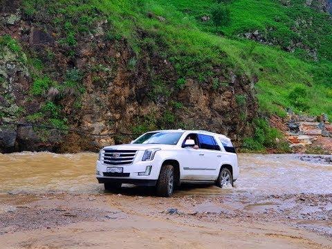 Охота за горными пейзажами на Cadillac Escalade. Путешествие по серпантину в Долину Нарзанов!