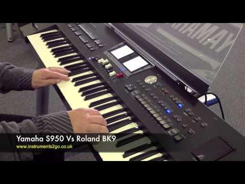 Yamaha S950 vs Roland BK9 Keyboard Demo