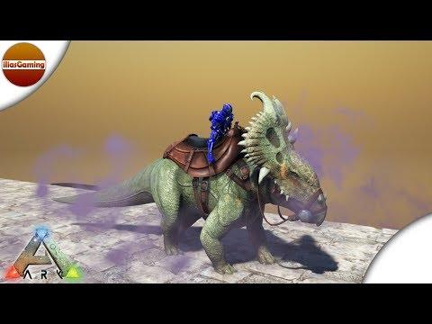 Πολύχρωμοι καπνοί! Κάνουμε tame Pachyrhinosaurus! ARK: Survival Evolved E153 (Greek gameplay)
