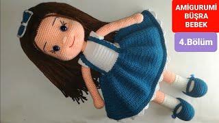 Amigurumi Büşra Bebek Yapımı - Kol ve Yüz Şekillendirme Yapılışı 4/7 (Gül Hanım)