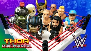 Thor Ragnarok vs WWE Shake Rumble Wrestling Match // RUMBLE LEAGUE