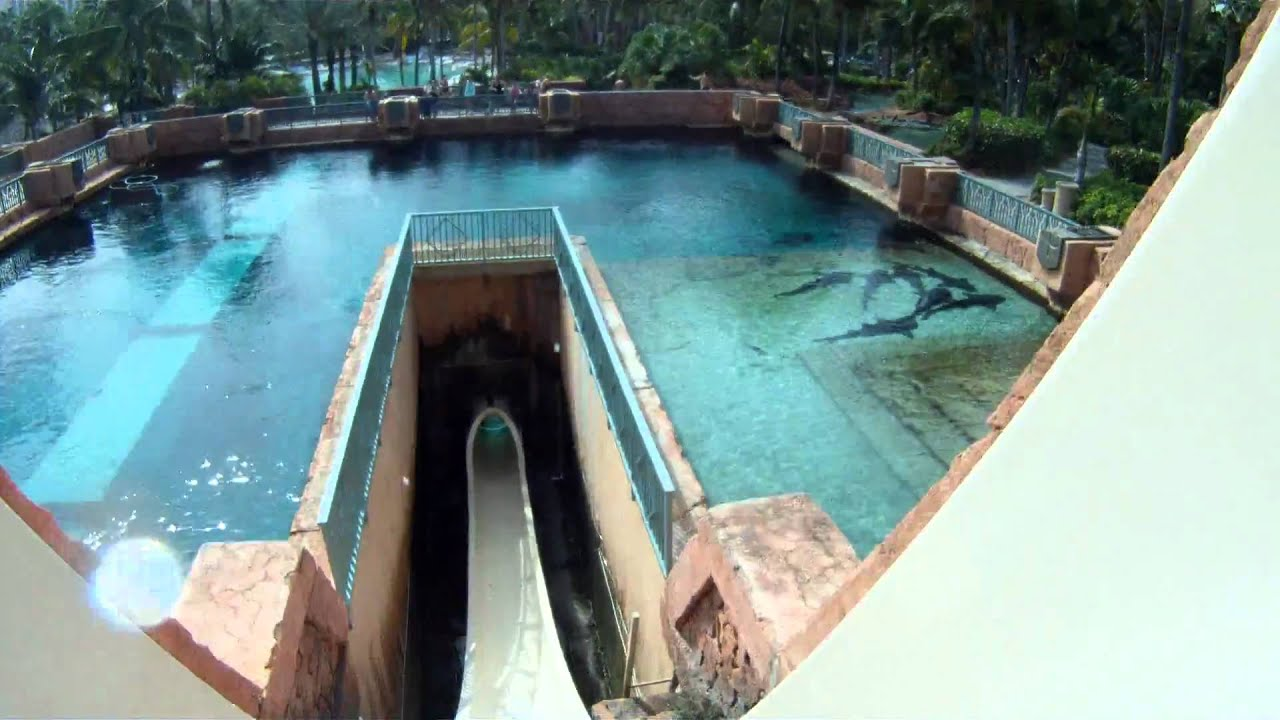 POV: Leap of Faith waterslide at Atlantis, Bahamas - YouTube