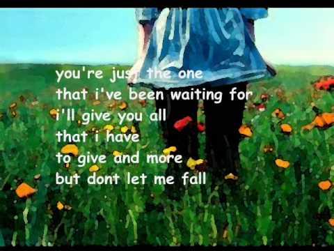 Dont let me fall lyrics