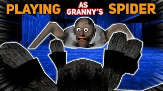 PLAYING AS GRANNY'S PET SPIDER?!?!? (Riding Spider Glitch) | Granny The Mobile Horror Game (Mods)