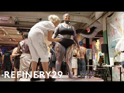 I Got Body Painted In Front Of Hundreds People   Refinery29
