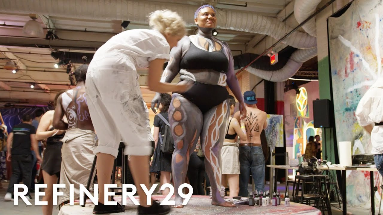 I Got Body Painted In Front Of Hundreds People | Refinery29