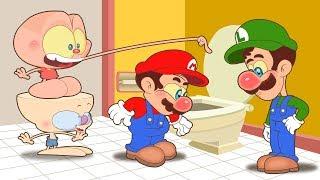Mongo e Drongo e o segredo de Mario e Luigi - Desenho animado infantil com Super Mario