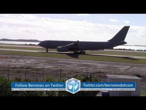 RAF Typhoons & Voyager Departing Bermuda, January 7 2015