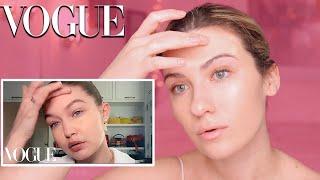 I FOLLOWED GIGI HADID'S MAKEUP TUTORIAL | Vogue Beauty Secrets