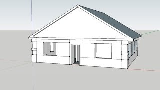 Как сделать дом/How to make house in Google SketchUp