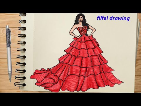 Dress Design How To Draw A Dress Easy Design Drawing Figure Drawing Design And Invention Pdf Youtube