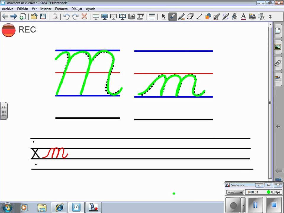 Trazo Letra M Cursiva