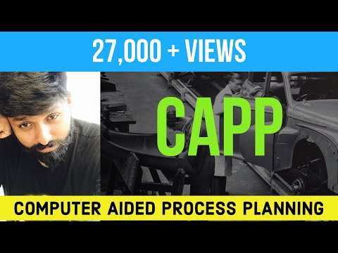 COMPUTER AIDED PROCESS PLANNING (EASY WAY) CAPP EXPLAINED HINDI & ENGLISH