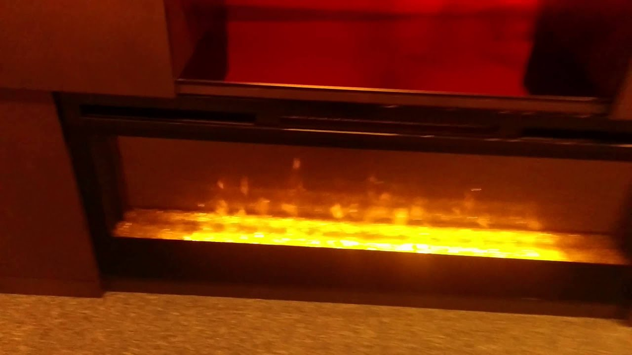 simplex electric fireplace entertainment center youtube