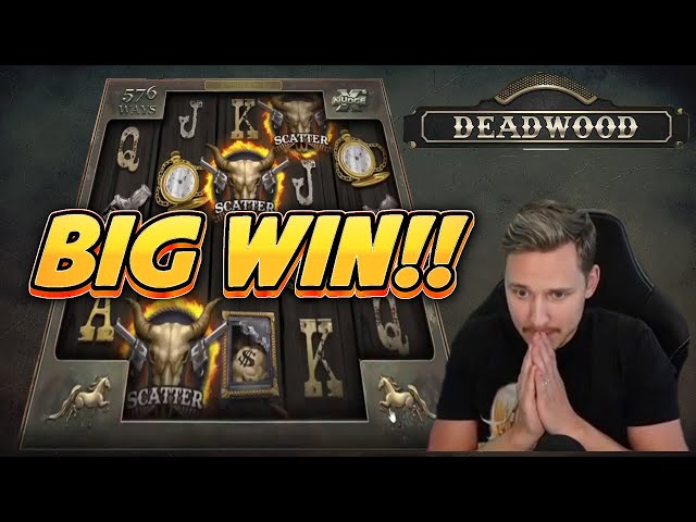 BIG WIN! DEADWOOD BIG WIN -  Casino slot from CasinoDaddy live stream