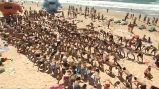 Флешмоб на пляже