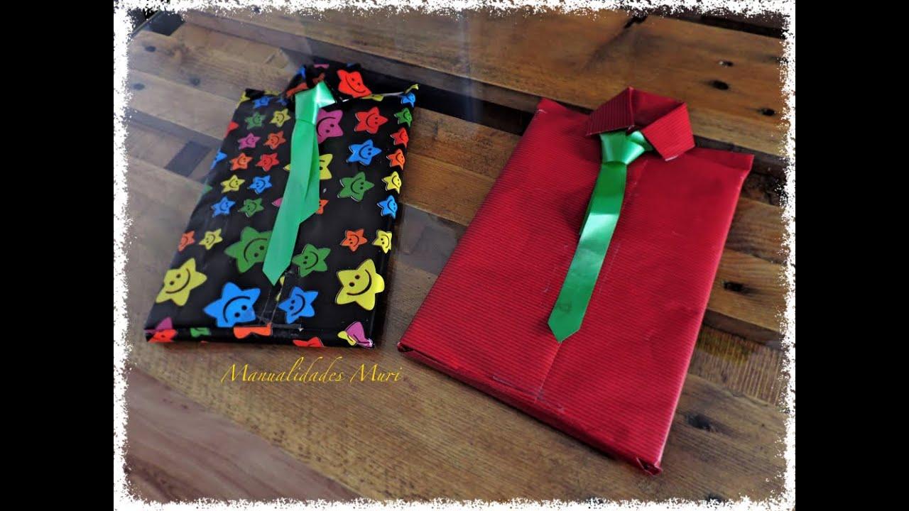 envolver regalos en forma de camisa con corbata dial del padre youtube