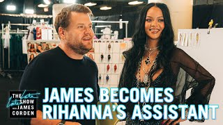 James Corden Was Rihanna's Personal Assistant For SAVAGE X FENTY VOL. 3 Thumb