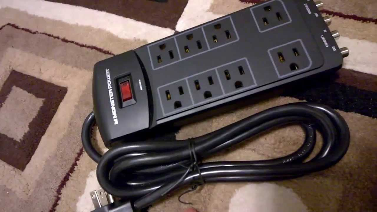Monster PowerCenter 800 8-Outlet Surge Protector - YouTube