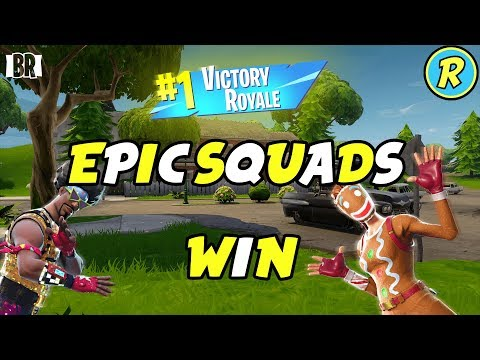 EPIC FORTNITE SQUADS WIN WITH SOME FRIENDS!