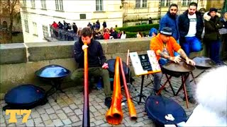 Travel 7 New Age Buskers In Prague Czech Republic 31 December 2018